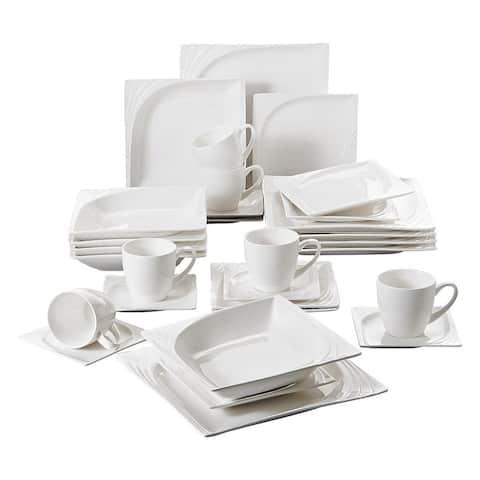 MALACASA Monica 30-Piece Porcelain Dinnerware Set (Service for 6)