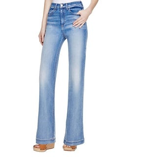 Rag & Bone Womens Justine Wide Leg Jeans Faded Arsenal Wash