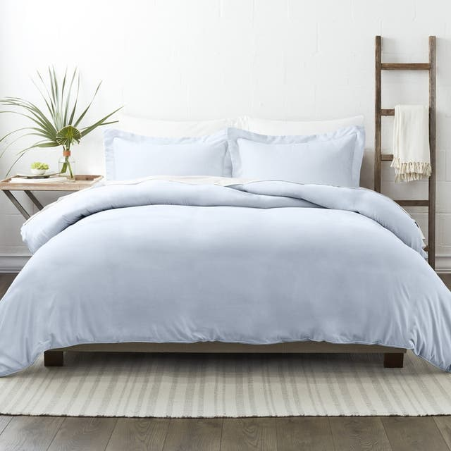 Soft Essentials Ultra Soft 3-piece Duvet Cover Set - Light Blue - Full - Queen