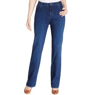 Lee Womens Straight Leg Jeans Relaxed Fit Flexible Waistband