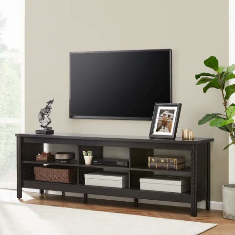 TV Stand for 75 inch TV Entertainment Center,Black-70 inch - 73 inches