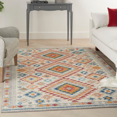 Nourison Passion Boho Geometric Tribal Area Rug