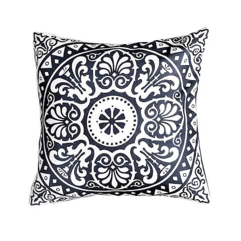 "Spanish Tile Indoor Outdoor Decorative Pillow - Navy Blue (20"" x 20"")"