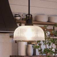 "Luxury Industrial Chic Pendant Light, 9""H x 10.5""W, with Modern Farmhouse Style, Fashion Bronze Finish by Urban Ambiance"