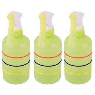 Home Vegetable Plant Flower Water Trigger Spray Bottle Green Yellow 400ml 3pcs - green yellow - green yellow