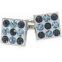 Crystal Bingo Board Aquamarine and Montana Blue Cufflinks