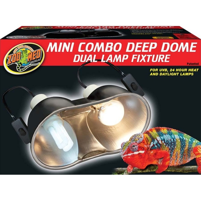 Fluker/'s Sun Dome Reptile Lamp Free Shipping New 10-Inch Deep Dome Fixture