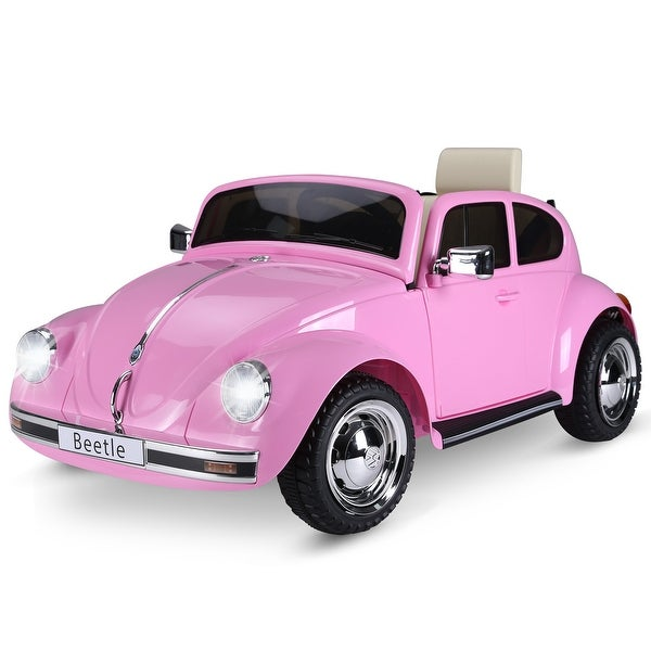 Aosom Licensed Volkswagen Beetle Ride-on Kids Electric Car with Secondary Remote Control & Extra Wide Safety Tires. Opens flyout.