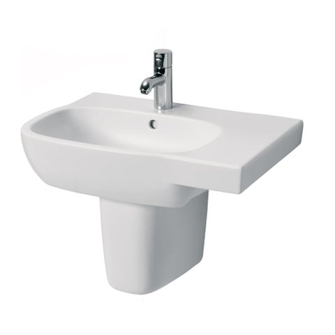"Bissonnet Moda 65-R Semi-Pedestal Moda 25-5/8"" Vitreous China Wall Mounted Semi- - White"