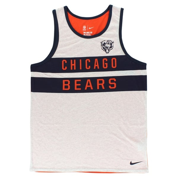 Jordan Mens Chicago Bears Strip Tank Top Grey - grey navy orange ... 3717756d4