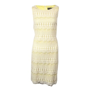 Jessica Howard Woman's Lace Sleeveless Dress
