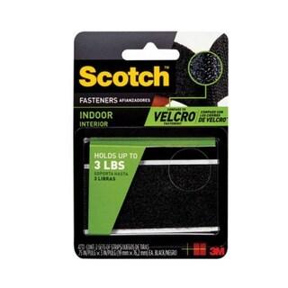 "Scotch RF4731 Black Indoor Fasteners, 3/4"" x 3"""