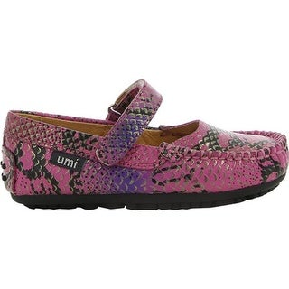 Umi Girls' Marvene Little Girl Mary Jane Pink Multi Leather