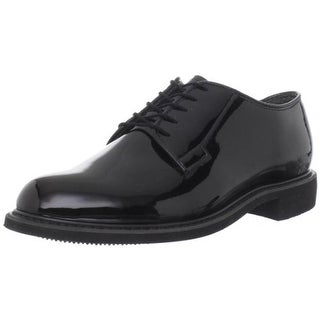 Bates Mens Patent Round Toe Oxfords - 7 wide (e)