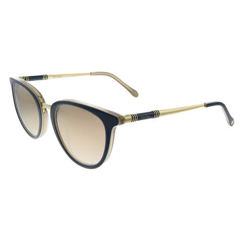 Lilly Pulitzer LP Fortuna NV Womens Navy Frame Gold Mirror Lens Sunglasses