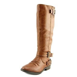 Rampage Idola Women Round Toe Leather Brown Boot