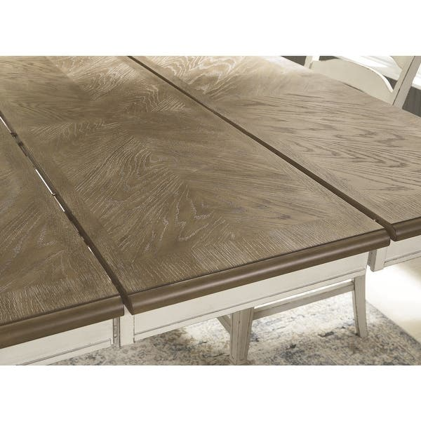Realyn Square Dining Room Counter Extendable Table Two Tone 54w X 54 D X 36 H On Sale Overstock 31851791