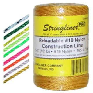 Stringliner 35759 Twine 1000 FT Braid Flo Orange, #18
