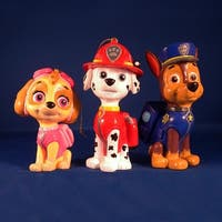 "Set of 3 Paw Patrol Marshall, Chase and Skye Christmas Ornaments 3- 3.5"" - multi"
