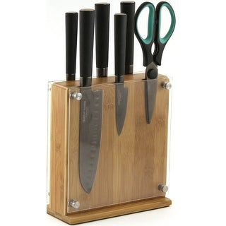 Oneida 55169 7- Piece Titanium Knife Block Set