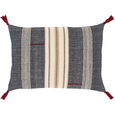 The Curated Nomad Park Handwoven Boho Stripe 16x24-inch Pillow Cover