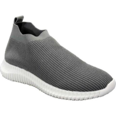 David Tate Women's Prime Slip On Sneaker Gray Stretch Fabric