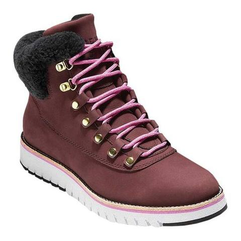 2e27b478a16 Cole Haan Women's ZeroGrand Explore Hiker Bitter Chocolate/Black  Shearling/Lavender/Ivory