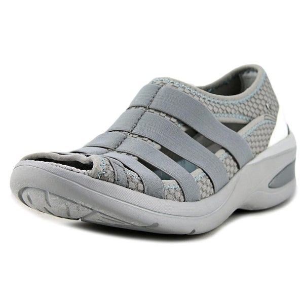 BZees Revival Women  Open-Toe Canvas Gray Sport Sandal