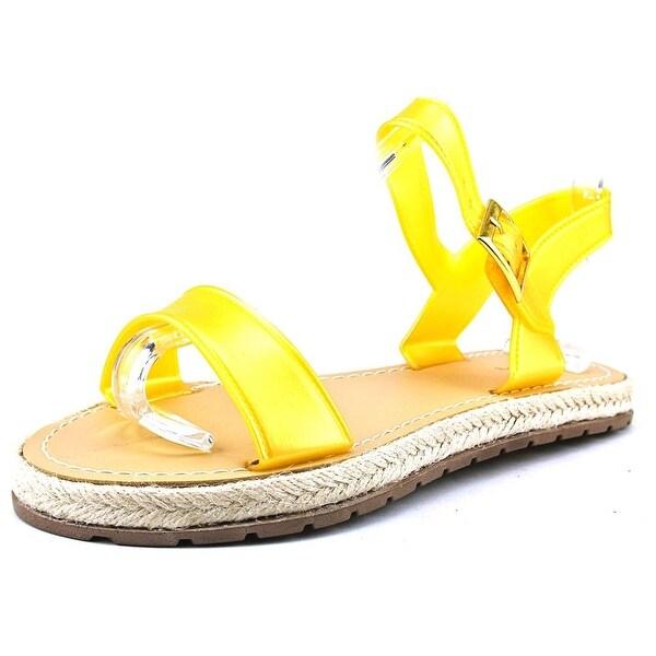 Qupid Bass-01 Women Open Toe Synthetic Gold Flip Flop Sandal