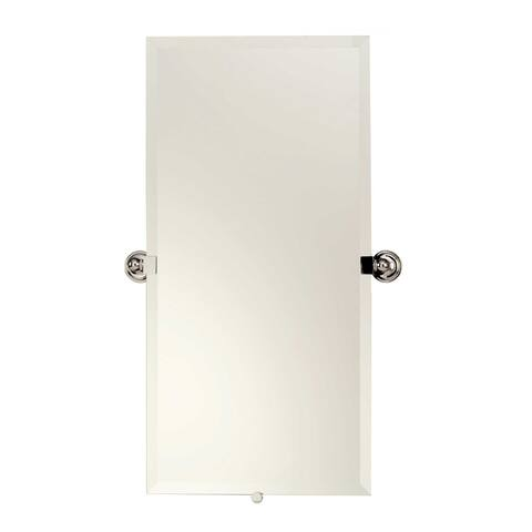 """Ginger 2641 London Terrace 30"""" H x 15"""" W Beveled Mirror with Tilting"""