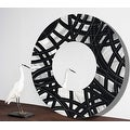 Statements2000 Black / Silver Metal Decorative Wall-Mounted Mirror by Jon Allen - Mirror 108 - Thumbnail 8