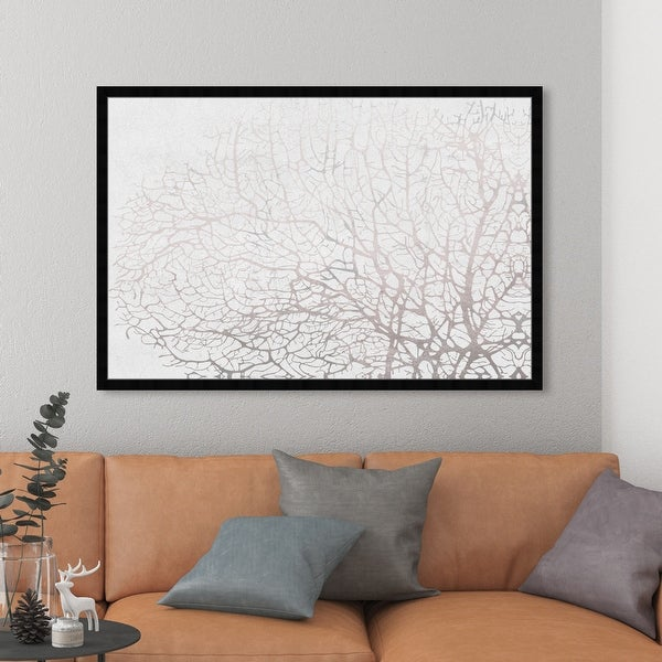 Oliver Gal 'Seatree Concrete' Nautical and Coastal Wall Art Framed Print Marine Life - Gray, White. Opens flyout.