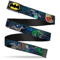 Batman Fcg Black Yellow Chrome Batman Battling Villains In Tunnel Web Belt