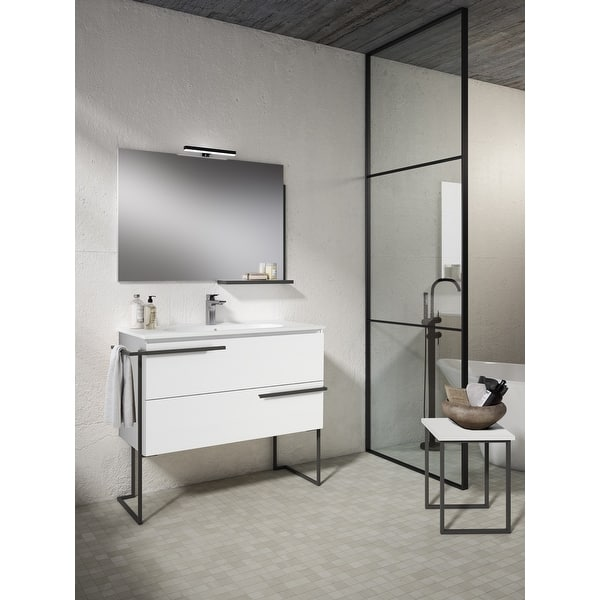 Shop Black Friday Deals On Lucena Bath 44 Scala Vanity With Legs And Tower Bar On Sale Overstock 31620899