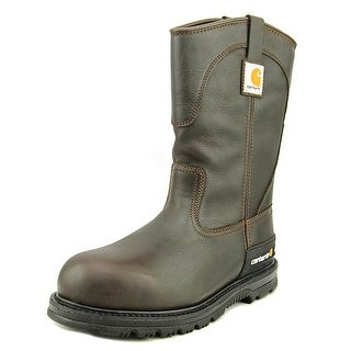 "Carhartt 11"" Wos Wellington Men Round Toe Leather Brown Work Boot"