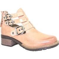Dromedaris Women's Kelsy Boot Nude Soft Waxy Leather