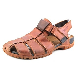 Mephisto Basile Round Toe Leather Fisherman Sandal