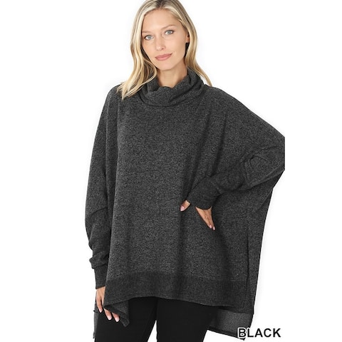 JED Women's Cowl Neck Long Sleeve Sweater Tunic