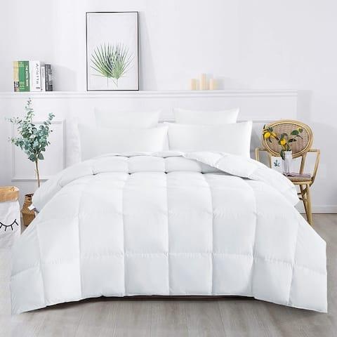 600 Fill Power Lightweight 75 Percent White Down Comforter Box-Stitch