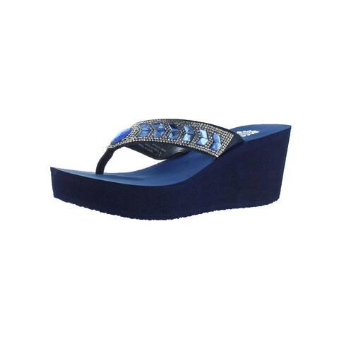 b88cdc044195 Yellow Box Womens Belmac Wedge Sandals Leather Summer