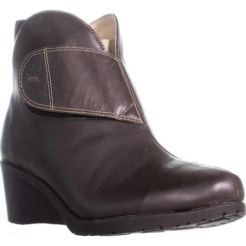 Jambu Perla Wedge Ankle Boots, Brown - 9.5 US / 40.5 EU
