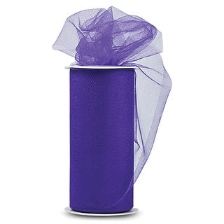 "Shiny Tulle 6"" Wide 25yd Spool-Purple"