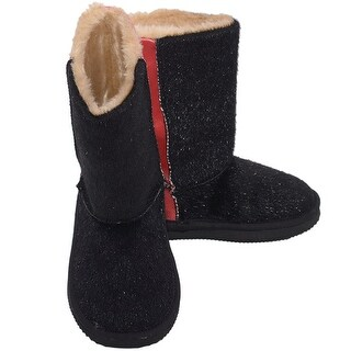 L'Amour Black Faux Cow Hair Red Fashion Boot Toddler Girl 5-10
