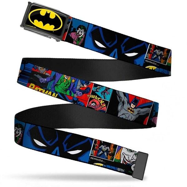 Batman Fcg Black Yellow Black Frame Batman & Joker Comic Strip Web Belt