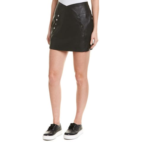 Bcbgmaxazria Snap Mini Skirt