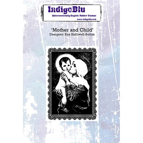 """Indigoblu Cling Mounted Stamp 5""""X4""""-Mother & Child"""