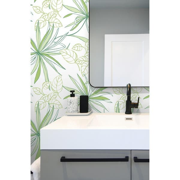Shop Placentia Spider Plants 18 X 20 5 Peel Stick Wallpaper Roll Overstock 32161945