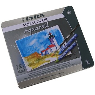 Lyra Aquacolor Water-Soluble Crayons 24/Pkg-Assorted Colors