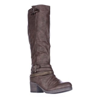 Carlos by Carlos Santana Candace Zipper Lined Knee High Boots - Brown