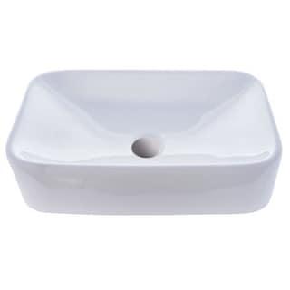 "Miseno MNO-1912-RV 19-1/4"" Vitreous China Vessel Bathroom Sink - Pop-Up Drain Included"